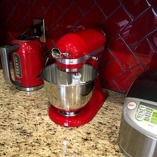 red kitchen aid mixer valance ideas kitchenaid artisan mini premium tilt head stand with flex empire