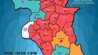 Peta sebaran kasus positif covid-19 di Kabupaten Jombang.