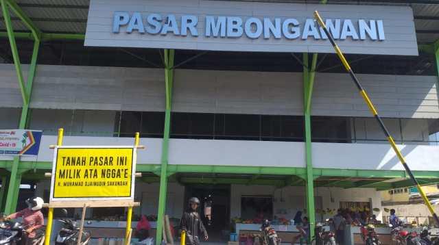 Pasar Mbongawani Kota Ende.(wacananews.co.id/ms)