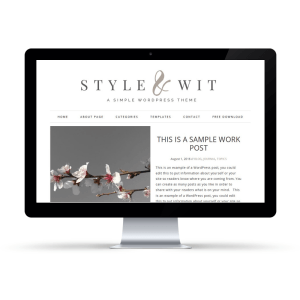 Style And Wit Free Genesis Child Theme