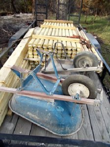 Photo of trailer filled with building materials