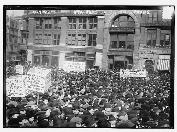 May Day '13, strikers in Union Square  (LOC)