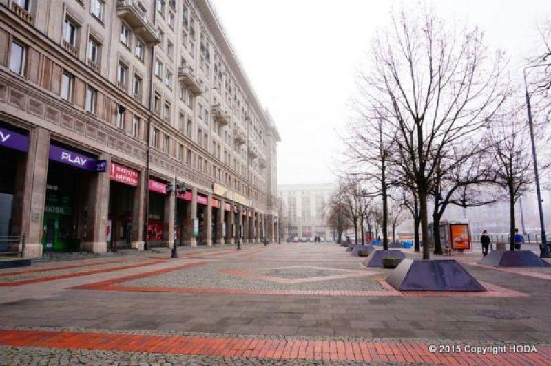 ポーランド ワルシャワ 街並み