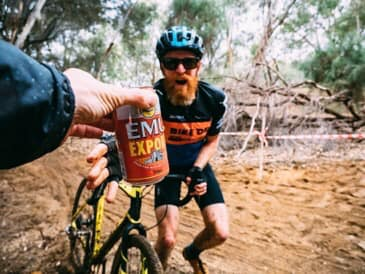 WACX cyclocross is thirsty work