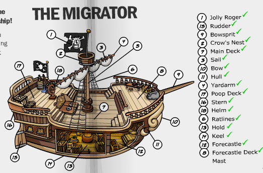 parts of a pirate ship diagram basic ignition wiring news paper test on rockhoppers club penguin cheats here