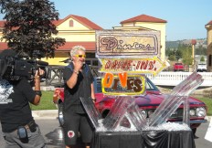 Behind scene picture from Diners Drive-In's and Dives