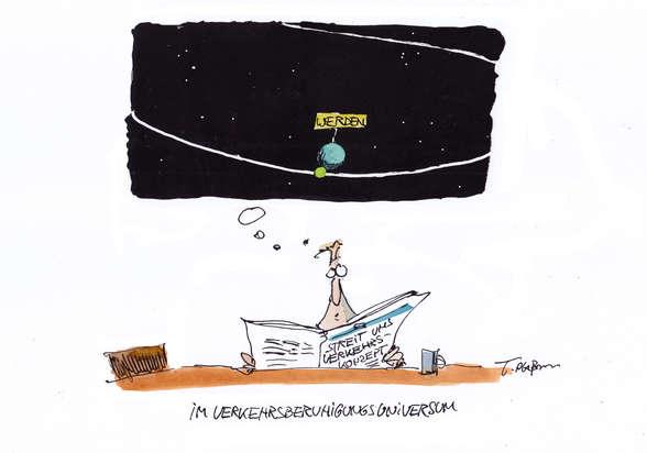 """So nah war der Stern """"Verkehrsänderung"""" dem Werdener Planeten noch nie und wird es sobald auch nicht wieder sein."""