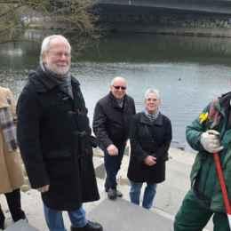 Angelika Schließmann, Werner Dernbach, Monika Reich und Freddy Kleinfeldt mit Stadtteilpfleger Thomas Buch.
