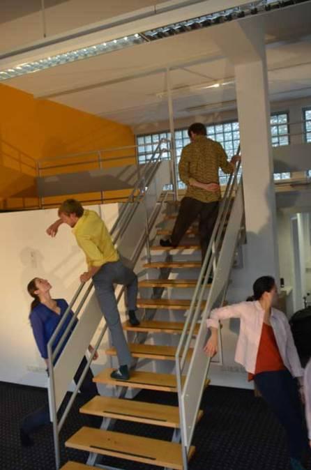 Folkwang tanzt in leerem Ladenlokal