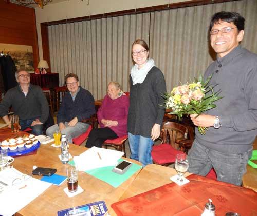 Die Grünen gratulieren ihrem Bezirksvertreter.