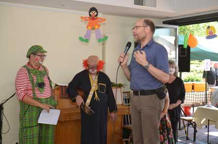 Heidhauser Sommerfest im Paul-Hannig-Heim mit Cirkus-Clowns.