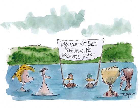 Karikatur von Thomaß Plassmann