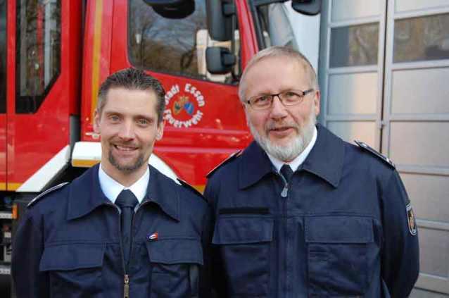 Löschzugführer Frank Tiggemann (li.) und sein Stellvertreter Martin Mittweg