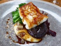 Cod with braised red cabbage