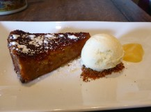 Treacle tart, homemade buttermilk ice cream & lemon curd