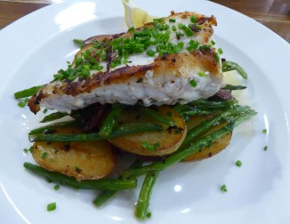 Severn & Wye's oven baked monkfish with chorizo, green beans and saute potatoes