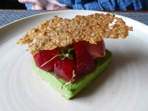 Strawberry, sorbet, parfait