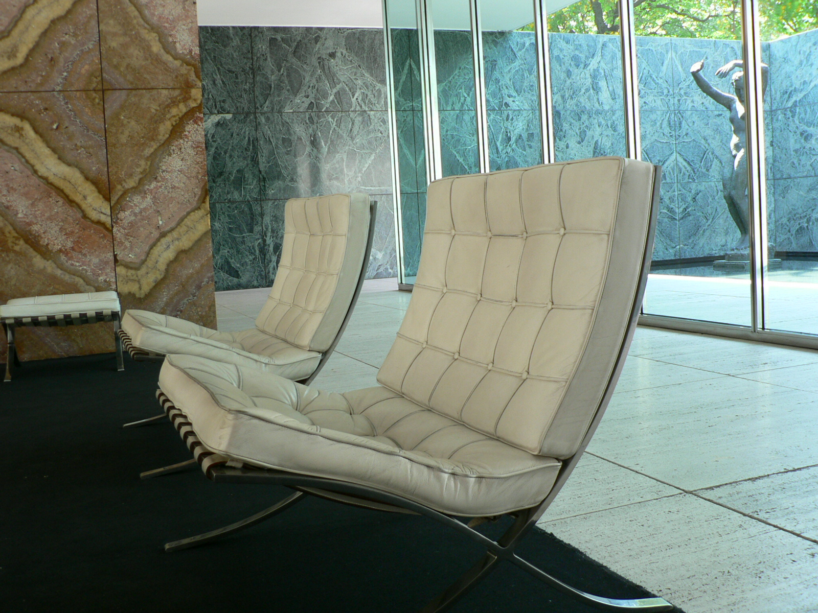 Pavilion Chair Design Friday Ludwig Mies Van Der Rohes Barcelona Chair
