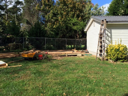 Wood shed removal