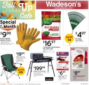 The Fall Clean Up Sale Runs 8/30/19 – 9/18/19!