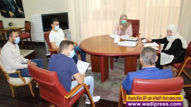 """صورة بهية الحريري استقبلت سرحال ووفد """"صندوق دعم طلاب جامعة رفيق الحريري"""""""
