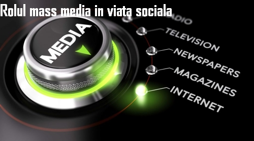 mass media în viaţa socială