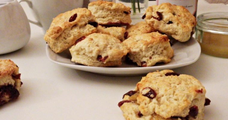 Scones aux cranberries fourrés Muroise / Lemon curd {Battle food #12}