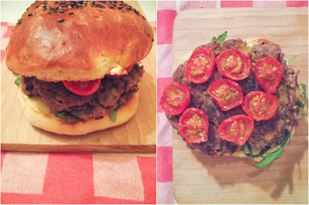 Muse To The Pharaoh - Burgers agneau/abricots et tomates roties & comfort food