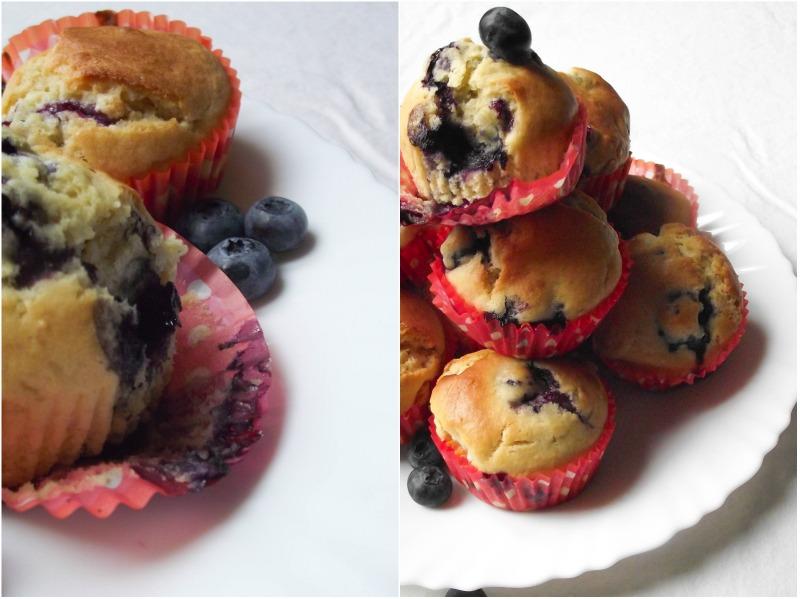 Muffins myrtilles-chocolat blanc & D'Une Mariée A L'autre
