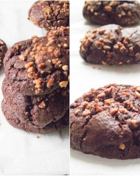 Cookies au chocolat et aux éclats de praslines extra-moelleux