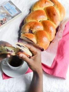 Brioche tressée aux myrtilles - Wadji, Cooking Mama