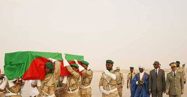 وصول جثمان شهيد الوطن ولد امبارك فال إلى نواكشوط