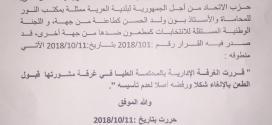 منطوق قرار المحكمة العليا بخصوص بلدية العرية بواد الناقة