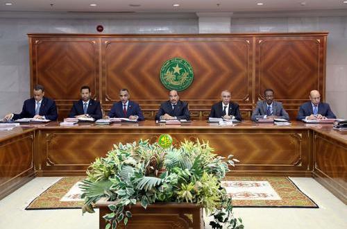 مجلس الوزراء الموريتاني يعقد اجتماعه الأسبوعي