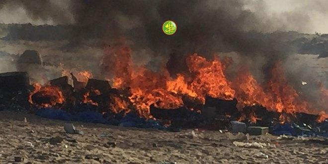 إحراق مواد ضارة على مستوى عاصمة ولاية اترارزة
