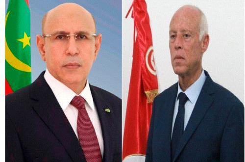 رئيس موريتانيا يهنئ الرئيس التونسي المنتخب قيس سعيد