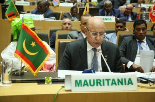 أول خطاب لولد الشيخ الغزواني أمام الاتحاد الإفريقي