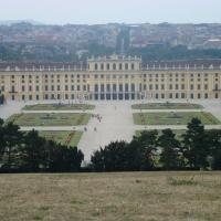 Schönbrunn Palace  and garden view from Gloriette