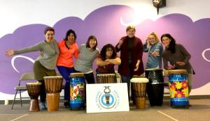 Two Herons Drum Circle @ Wadsworth Library