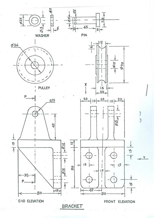 Technical Drawing Waec Question 2017