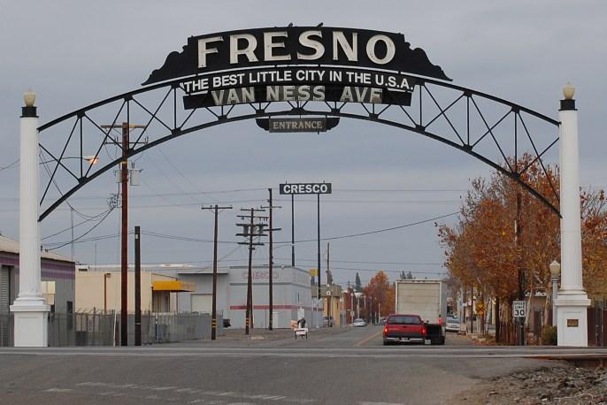 Fresno California Van Ness portal