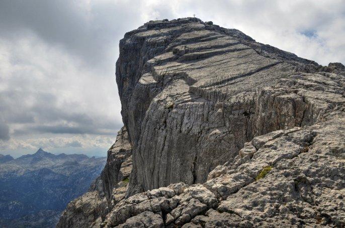 Craggy mountain outcropping