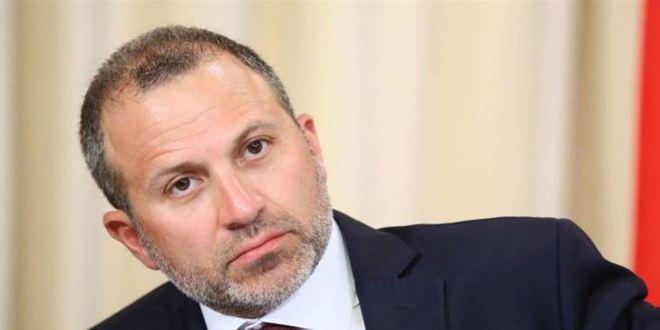 """باسيل: لبنان يواجه """"حصارا ماليا"""".. وعلى الحكومة الإسراع بتنفيذ الإصلاحات"""