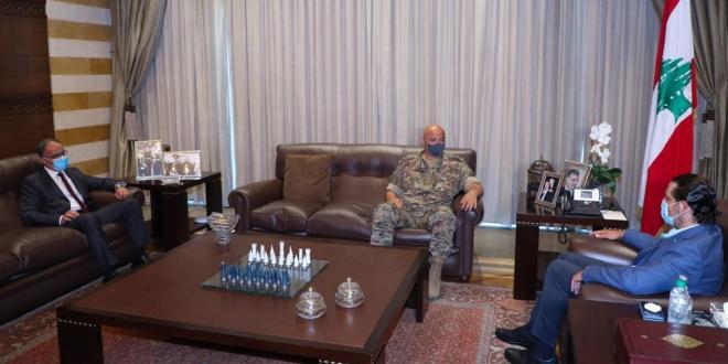 الحريري استقبل قائد الجيش ومدير المخابرات