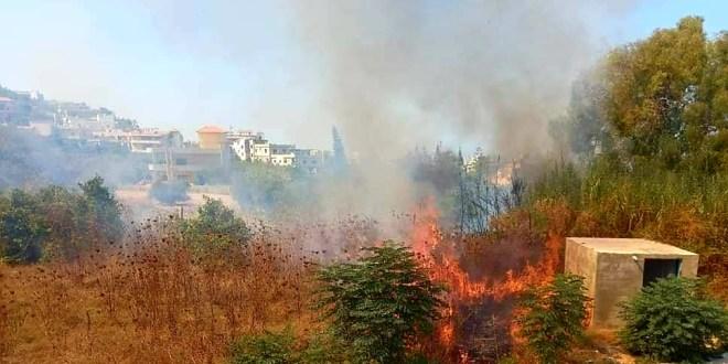 الدفاع المدني أخمد حريقا في الشيخ طابا العكارية