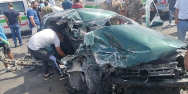 3 جرحى في حادث سير على اوتوستراد الزهراني صور