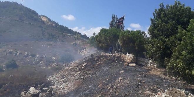 إخماد حريق في بلدة عديسة