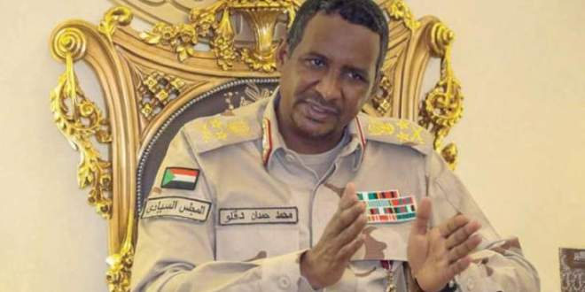 """حميدتي: سلاح """"المقاطعة"""" بلا قيمة وتطبيع السودان مع اسرائيل مكسب لنا"""
