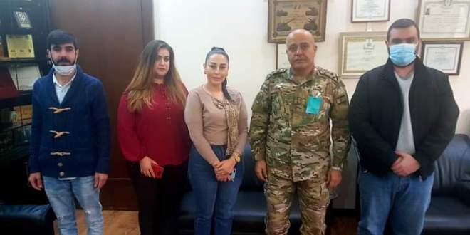 وفد من جمعية الدار العالي زار قيادة منطقة الشمال العسكرية لمناسبة عيد الاستقلال