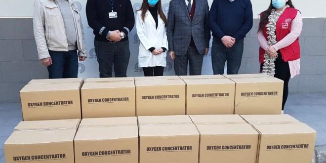 جمعية المقاصد تلقت أجهزة أوكسجين هبة جديدة من جنبلاط